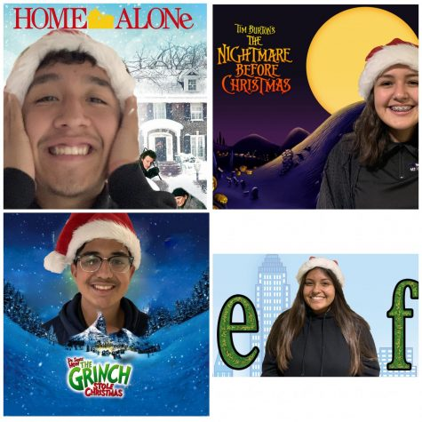 MACES students put in the cover art for their favorite holiday movies.