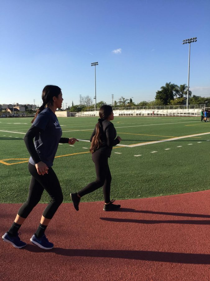 New Beginnings? MACES students practicing for new track and field team.