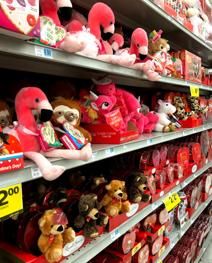 From the months of December to February, aisles at Rite-Aid are filled with Valentines Day galore.