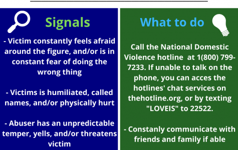 Keep an eye out for domestic abuse signals. Remember that victims are not alone and can be helped when the right organizations are contacted.