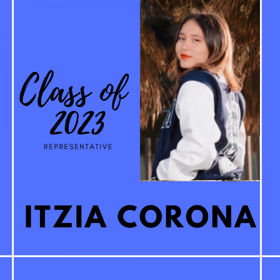 Returning Rep.- Itzia Corona, Class of 2023 Representative.