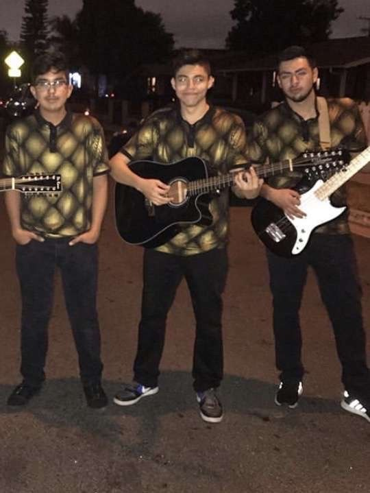 In order from left to right: Matthew Sanabria, Andres Gonzalez, Edwin Meza