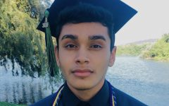 MACES Class of 2020 Salutatorian, Roman Arreola in his cap and gown.