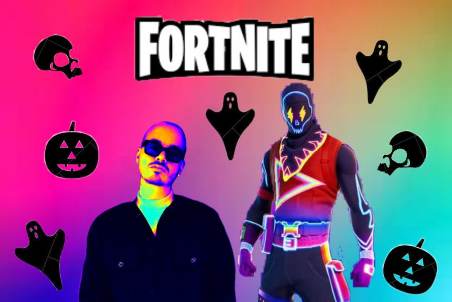 On+October+31%2C+2020%2C+J+Balvin+united+forces+with+Epic+Games+to+bring+fans+a+Halloween+themed+virtual+concert+at+the+main+stage+in+the+video+game+Fortnite.+Millions+of+users+across+the+globe+attended+this+one-time+experience.%0A