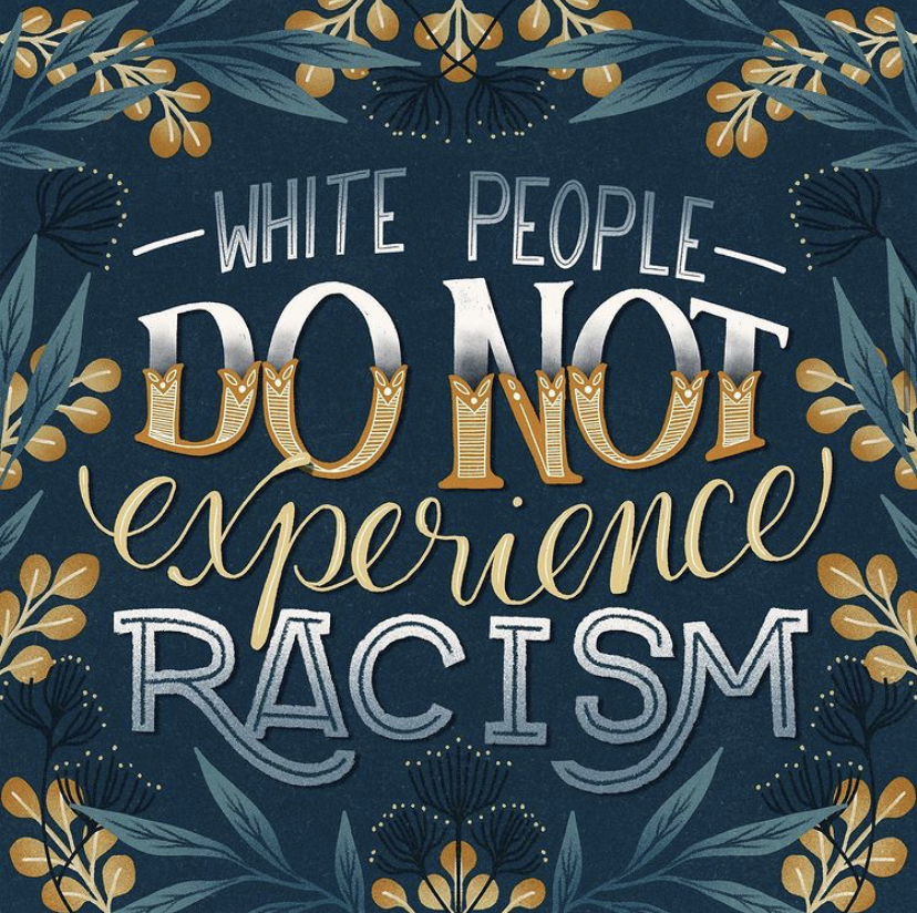 "WHITE PEOPLE DO NOT EXPERIENCE RACISM- Racism is not only hatred towards a race, it is an act of discrimination that mainly affects minorities. This discrimination can affect minorities mentally, socially, and even physically, ""The United States has a long legacy of racism that makes it difficult for people of color to receive quality health care, access affordable housing...,"" according to Philip Lewis in their article titled, ""What Is Reverse Racism"