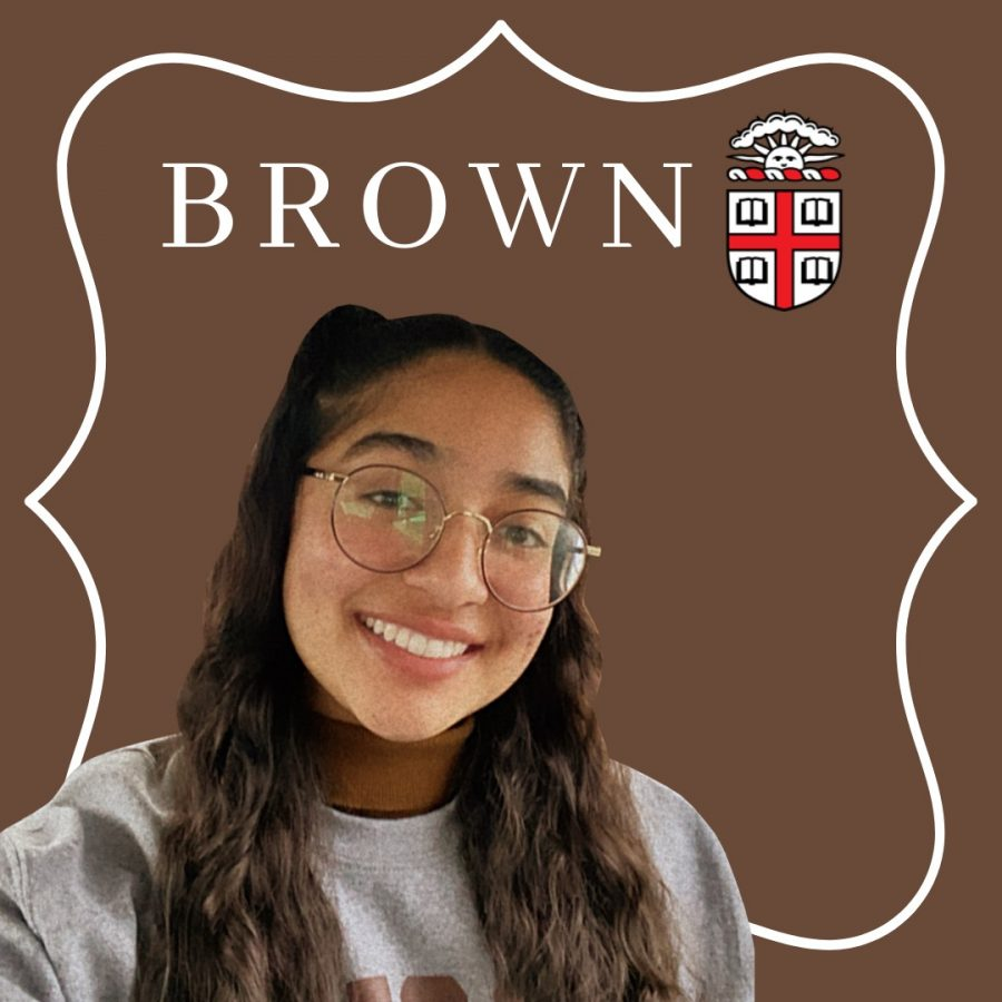 "ADMITTED TO A TOP 40 SCHOOL- Melissa Ponce, the Wolfpack Times' Editor-in-Chief of Design, recently received her acceptance letter from Brown University. Given that the school has, on average, a 7 percent acceptance rate, Brown has been deemed highly-selective time-and-time again. ""When I saw the banner that said 'Welcome to Brown,' I was in shock. It took me a few seconds to realize that I got in,"" Ponce said."