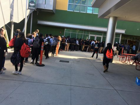 The problems of a long lunch line
