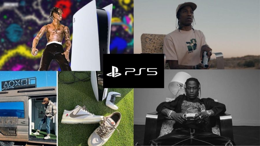 """PS5 SELL OUT - Travis Scott is back with another collaboration as a new """"strategic partner"""" for Sony and the PlayStation 5 console. Scott's unboxing video streamed live on Youtube at 9 p.m. PST on Thursday, November 12th. """"To be able to just make somebody smile on a...Friday… it's a good Friday right now,"""" Scott said."""
