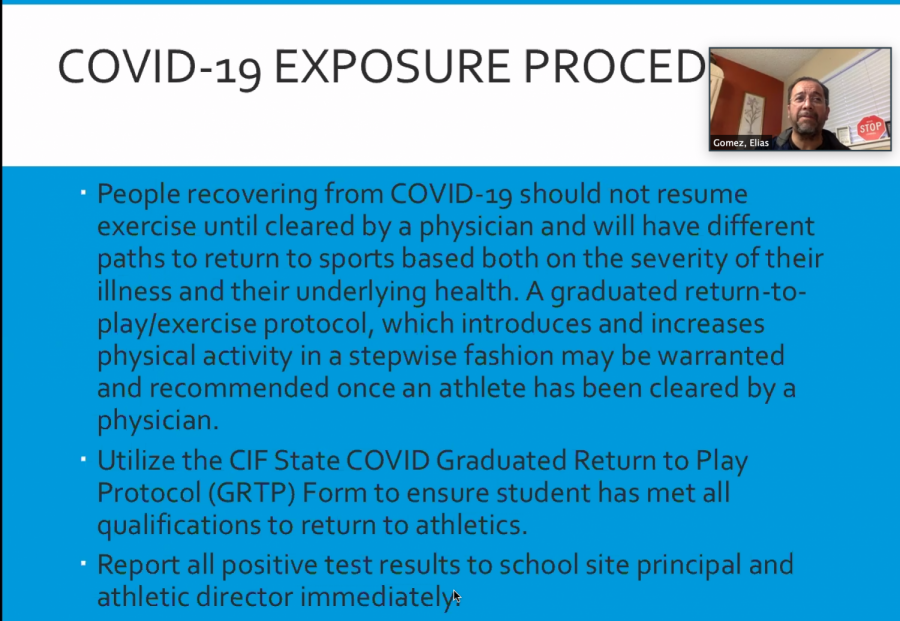 THE+RETURN+OF+SPORTS-+CIF+and+LAUSD+have+approved+the+return+of+high+school+sports.+Mr.Gomez%2C+MACES+Athletic+Director%2C+explains+how+sports+practices+will+be+conducted+and+gives+insight+to+some+frequently+asked+questions.%0A