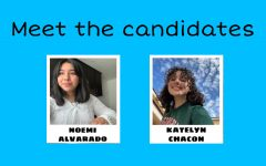 The candidates running for the position of ASB president are Noemi Alvarado and Katelyn Chacon (in alphabetical order). Noemi is a member of the National Honors Society, MESA, Girls Who Code, Science Bowl, Roots and Shoots club, and volunteers in various places. Katelyn is a member of the National Honors Society, MESA, and girls soccer.