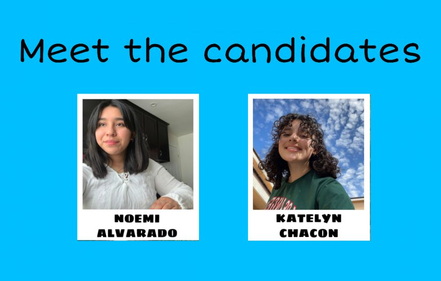 The+candidates+running+for+the+position+of+ASB+president+are+Noemi+Alvarado+and+Katelyn+Chacon+%28in+alphabetical+order%29.+Noemi+is+a+member+of+the+National+Honors+Society%2C+MESA%2C+Girls+Who+Code%2C+Science+Bowl%2C+Roots+and+Shoots+club%2C+and+volunteers+in+various+places.+Katelyn+is+a+member+of+the+National+Honors+Society%2C+MESA%2C+and+girls+soccer.
