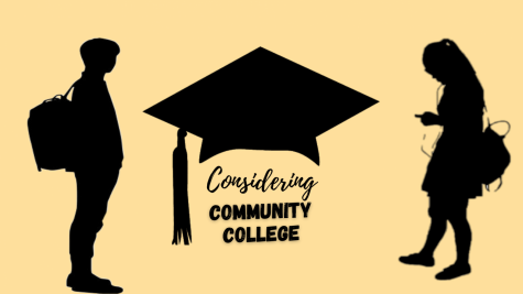"""Graphic by Kelly Avila  CHOOSING THE RIGHT FIT- Community college is often viewed as a poor man's education or the last option. However, attending a community college has several financial benefits. """"There's no such thing as a 'bad education' as long as you put in your part to study and work hard,"""" said Gaby Navarro, a senior."""